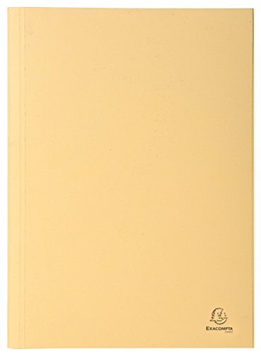 Exacompta 389022B Aktendeckel (Recycling-Karton, gerilltem Rücken, Kapazität bis 350 Blatt, 250g, DIN A4) 100er Pack Elfenbein