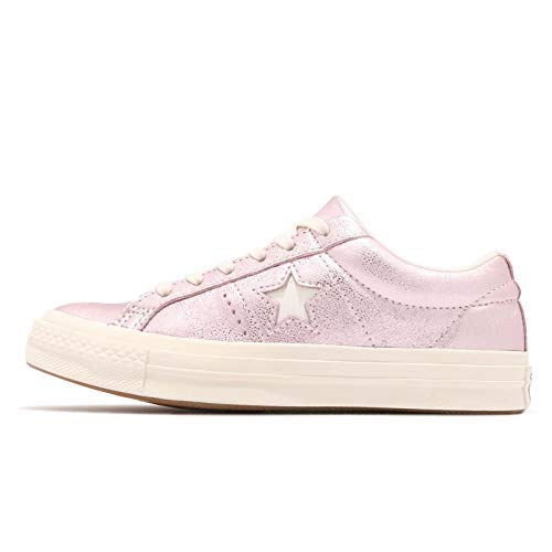 Converse Unisex-Erwachsene Cons One Star Metallic Leather OX Sneaker, Pink rosa/Silber, 41 EU
