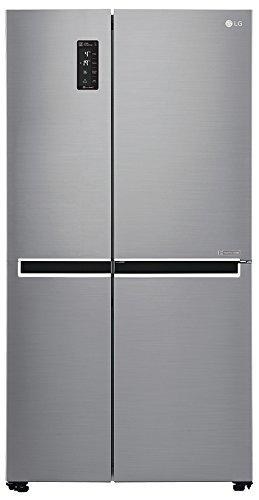 LG 687 L Frost-Free Side-by-Side Refrigerator (GC-B247SLUV, platinum silver)