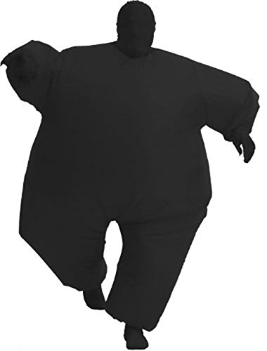 Costume Agent Inflatable Erwachsene Chub Suit Kostüm Blow Up Jumpsuitp (schwarz), Black, One size (Mc Halloween Hammer Kostüme)