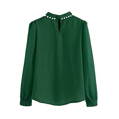 Basic-66-block-punch (TEFIIR T-Shirt für Frauen, Bonbon Preisnachlass für Oktoberfest, Leistungsverhältnis Farben Frauen-Bluse-Lange Aufflackern-Hülsen-hoher Ansatz-weibliche Geeignet für Freizeit und Dating)