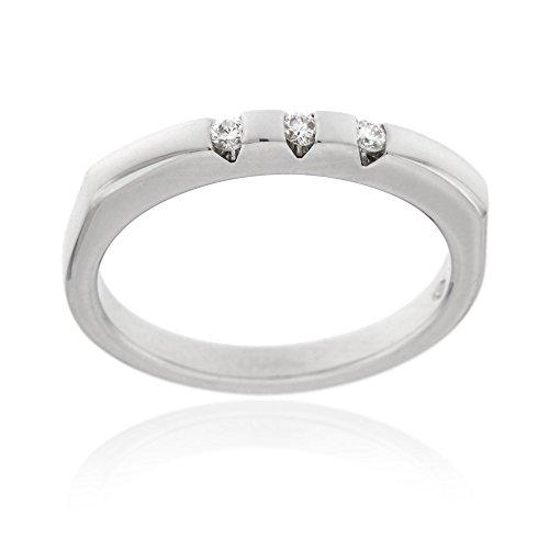 Gioiello italiano - anello trilogy in oro bianco e diamanti