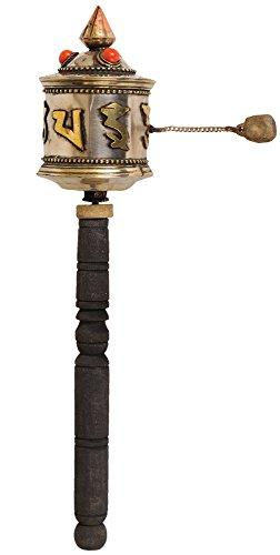Exotic India zbv68tibetisch-buddhistischen Gebetsmühle mit der Syllable OM MANI Padme HUM - Gebetsmühle Tibetische