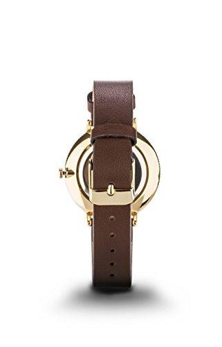 Alexander Gray Damenuhr - Vergoldete Armbanduhr Modell VENEZIA mit weichem Lederarmband und ultradünnem Gehäuse – zeitloses Design für jeden Anlass - 3