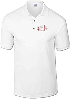 Cotton Island - Polo T0624 usa san francisco fun cool geek