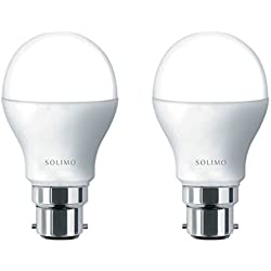 Solimo Base B22 9-Watt LED Bulb (Pack of 2, Cool Day Light)