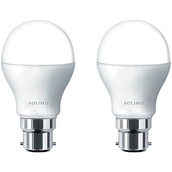 Solimo Base B22 9-Watt LED Bulb (Pack of 2, Cool Day Light)