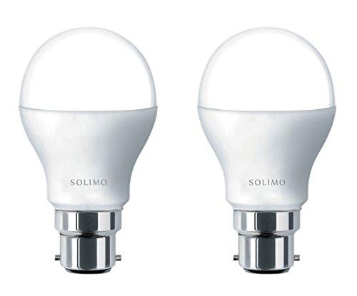 Amazon Brand - Solimo Base B22 9-Watt LED Bulb (Pack of 2, Cool Day Light) (Cool Day Light)