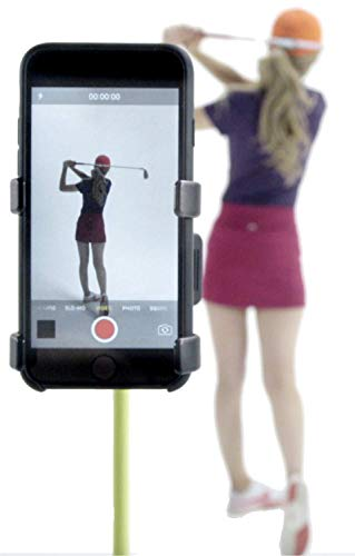 selfiegolf record golf swing cell phone clip holder e training aid accessori per il golf | vincitore del miglior prodotto pga, quick set up