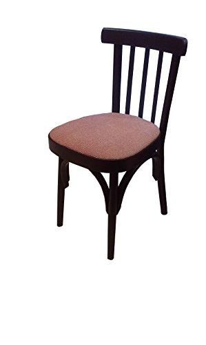 P&J 2 sedie per Sala da Pranzo in Legno Massiccio di faggio, con Seduta Imbottita