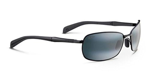 Maui Jim Long Beach 2402M 64mm Sunglasses New - Size: 64--17--130 - Color: Matte Black