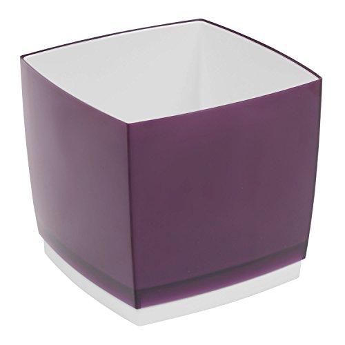 Pot de fleur, cache pot Designo Cube, hauteur 18,5 cm, en prune, violet
