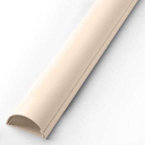 D-Line Lot de 2 cache-câbles pour dissimuler les câbles du téléviseur 90 x 30 x 60 cm Cream (Magnolia)