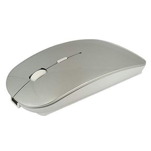 Bozhuzhijia Wiederaufladbare kabellose Maus , Stummschaltung bei lautlosem Klicken Mini Noiseless Optical Mice for Notebook-PC Laptop-Computer MacBook (Farbe : Deep Space Gray (Charged Wireless)) (Space Mouse Pro Wireless)