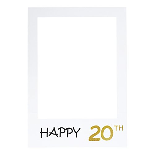e 20. DIY Papier Bilderrahmen Ausschnitte Photo Booth Props für Geburtstagsfeier ()