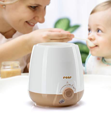 reer Babykostwärmer Simply Hot für Fläschchen und Gläschen, mit Warmhaltefunktion, beige
