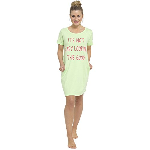 Tom Franks - Chemise de nuit - À logo - Femme Menthe