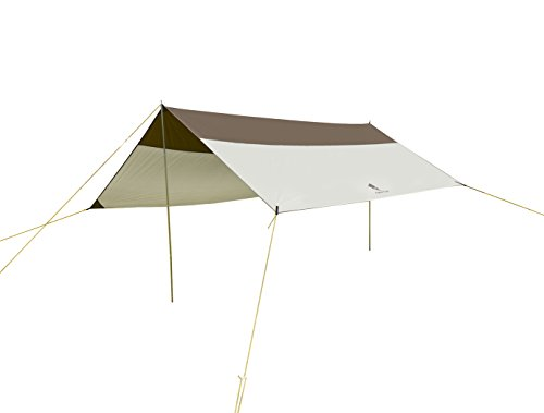 geertop 5 - 8 persons waterproof rain fly sun shelter tent tarp 19'7'' x 17'3'' for camping - poles included - grey