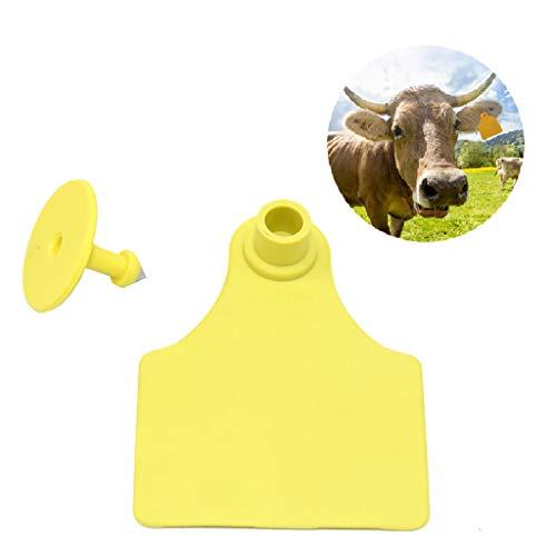 zhouchuanchuan Etichette Spesse per Orecchie con targhetta numerata per capre Orecchio Tag Bestiame plastica Animale caprino Pecora Animali Tag e