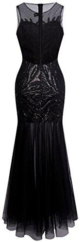 Angel fashions Damen Art Deco Paillette Inspiriert Meerjungfrau Bodycon Abend Kleid Abschlussball XLarge - 2