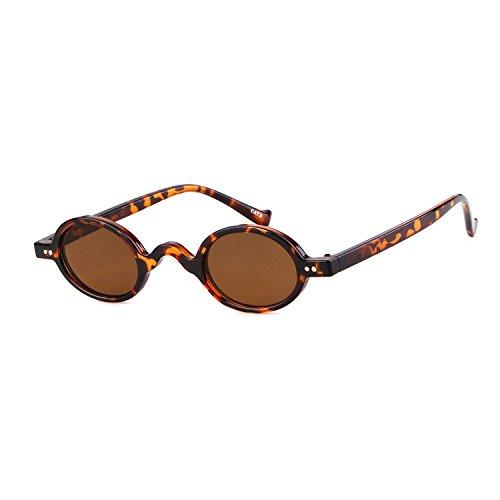 ADEWU Kleine Runde Sonnenbrille Clout Goggles Retro Vintage Brand Design Herren Damen