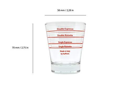 ITALPARTS, Round Espresso Shot Glass, Pack of 6