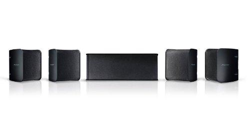 Pioneer Lautsprecher-Set, S-11, (1x Center Lautsprecher, 2x Front Lautsprecher, 2x Surround Lautsprecher), für Heimkino-Systeme, 150 Watt max. Belastbarkeit, schwarz