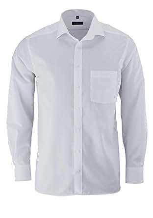 ETERNA Herren Modern Fit Uni Popeline Langarmhemd weiss 37-H Normal (65cm)