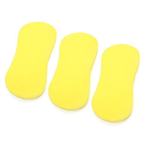 sourcingmap 3Pcs gelbe schwammige Knochen geformte Mehrzweckwaschanlage Hauptauto Reinigungs Werkzeug