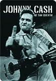 Johnny Cash Stinkefinger Blechschild Gewölbt Neu 20x30cm VS2786