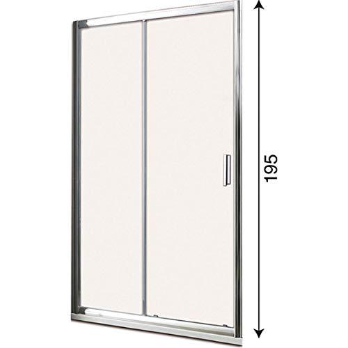 Box doccia porta scorrevole per nicchia profilo cromato altezza 195 cristallo 6mm...