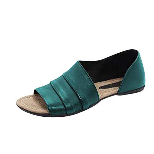 menFrauenMädchenStrandSommerSchuheFrauPeep Toe Ankle gemischte Farben Slipperrömische Mode2019 (38 EU, Armeegrün) ()