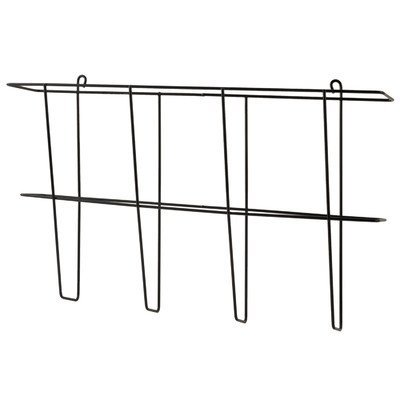 Buddy Products Wire Ware 1 Pocket Literature Rack, Legal Size, 3 x 9.5 x 16 Inches, Black (6302-4)