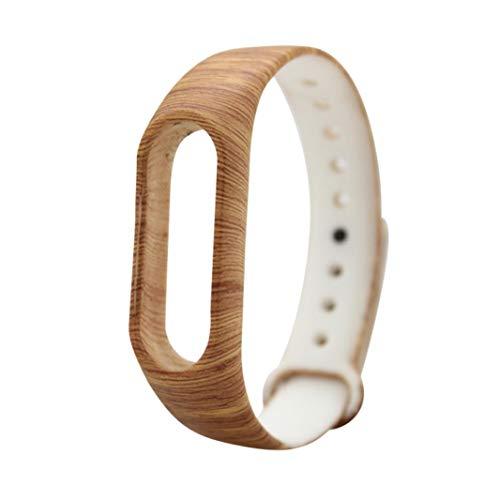 JiaMeng Fashion Correa de la Venda de la Pulsera del Gel de Silicona del reemplazo XIAOMI MI Band 2 Bracelet(D,tamaño Libre)