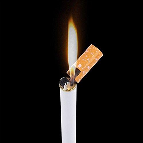 Neuf Portable léger en forme de cigarette Briquet au butane Jet de flamme