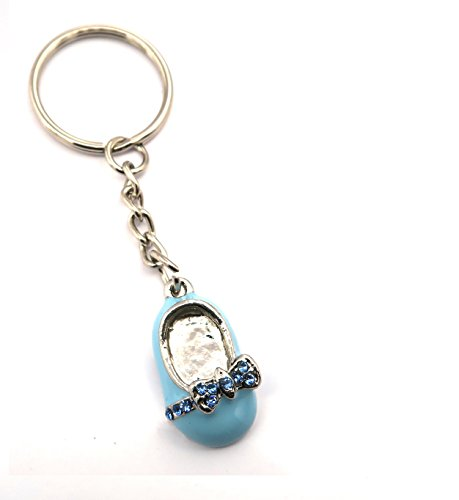 schmuck-stadt Baby Schuh Schlüsselanhänger Silber-Farben Modeschmuck