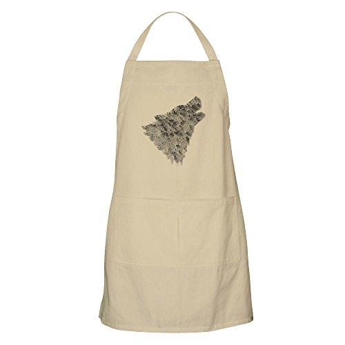 CafePress–Der Wolf Schürze–Küche Schürze mit Taschen, Grillen Schürze, Backen Schürze khaki (Wilde Frauen In Der Küche)