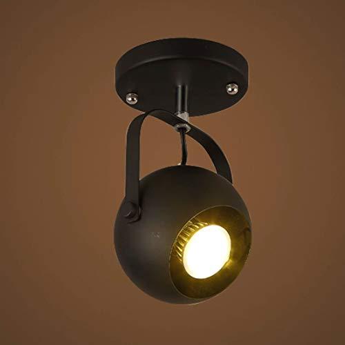 6' Esstisch (JZMB / 6 '' W Spotlight Deckenleuchte Kronleuchter Pendelleuchte Mattschwarz 1 Licht)