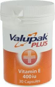 Valupack Vitamin E Capsules - Pack of 30 by BR Pharmaceuticals