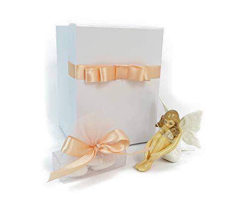 Zelda bomboniere bomboniera fata in porcellana con scatola e astuccio portaconfetti cresima