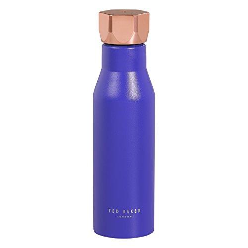 Ted Baker Unisex ted351Wasser Flasche mit Deckel Sechskant in Electric Saphir, Blau, Medium