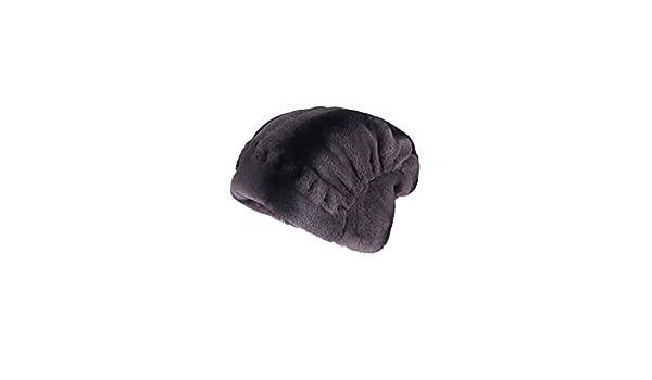Donna chincilla cappello pelliccia berretto over argento-nero berretto  Beanie pelliccia berretto volpacchiotto only Fox berretto invernale  cappuccio ... 2b01a617d45c