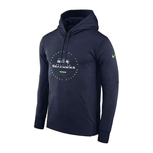 Nike Sea M NK THRMA Hoodie Sweatshirt, Herren, Mehrfarbig (College Navy/College Navy/Action Green) College Hoodie Sweatshirt