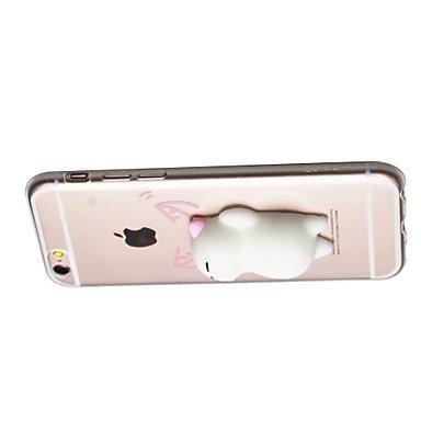 Casse del telefono mobile & Cover, per la copertura di caso trasparente modello diy squishy copertura posteriore caso gatto 3d tpu morbido del fumetto per la mela iphone 7 ( Modello compatibile : IPho IPhone 8 Plus