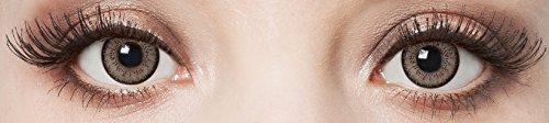 aricona Farblinsen  Natürliche farbige Kontaktlinse Gray Enchants   – Jahreslinsen für helle Augenfarben, ohne Stärke, Farblinsen als Modeaccessoire für den täglichen Gebrauch