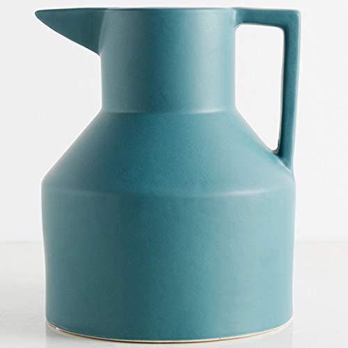 LYN Vaso in Ceramica Creativo casa Vaso di Ceramica Soggiorno Decorazione Vaso da Fiori Giardino Camera da Letto secchi Fiore Vaso di Fiori (Color : Green, Size : 25.5 * 20CM)