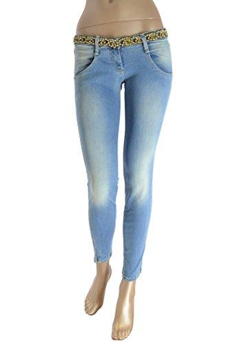 MET Jeans donna effetto vintage con cintura non removibile con strass (26)