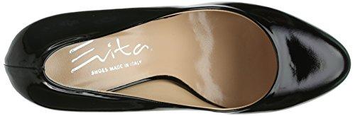 Evita Shoes Pumps Geschlossen, Chaussures à talons - Avant du pieds couvert femme Schwarz (Schwarz)