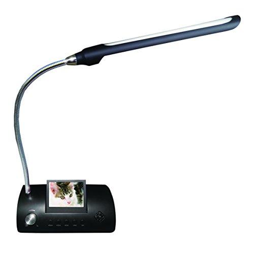 512 Mb Media Player (- Me-Not Tischleuchte Nachttisch A 18LED mit digitaler Bilderrahmen, Slot Lesen von Flash Card sd-mmc-ms und Schlüssel USB, Kalender, Uhr, Weckfunktion, integrierte Stereo-Lautsprecher, internem Speicher 512MB, LCD 3.5Zoll (4: 3), Schwarz)