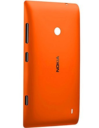 V CAN™ Premium Back Panel Replacement Battery Back Door Housing Adhesive Back Panel for Nokia Lumia 520 - (Orange)